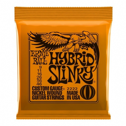 Ernie Ball Hybrid Slinky 9-46 Nickel Electric Guitar Strings